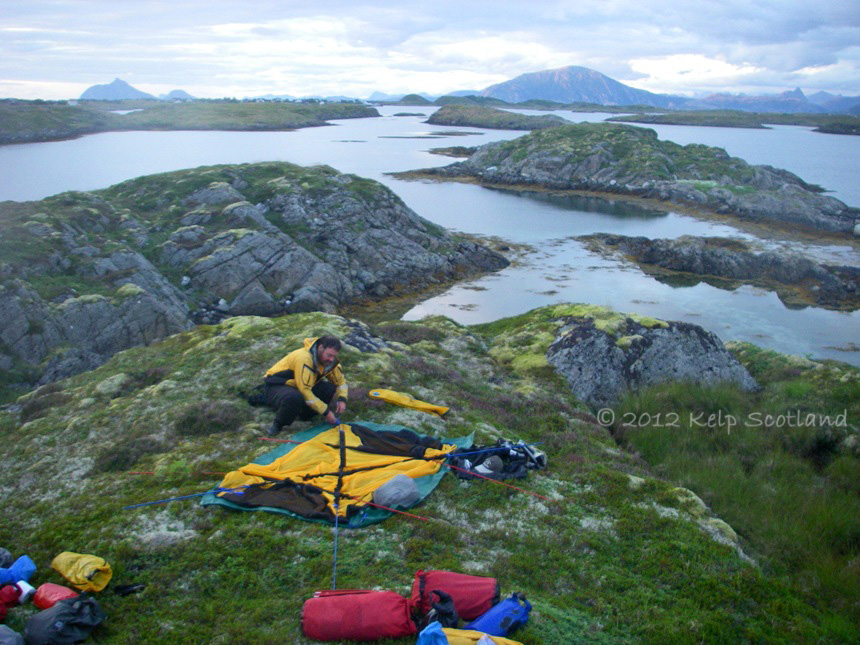 Camp with a view, near Sleneset