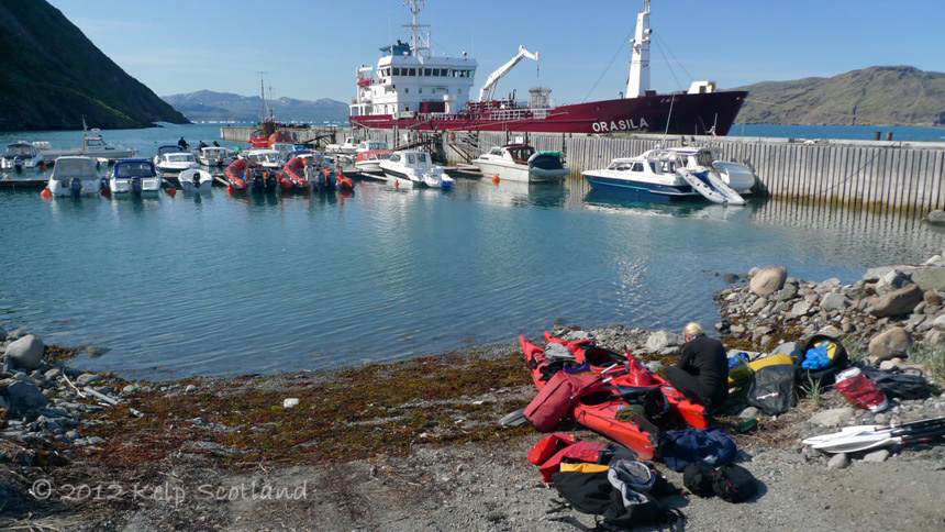 Packing at Narsarsuaq harbour