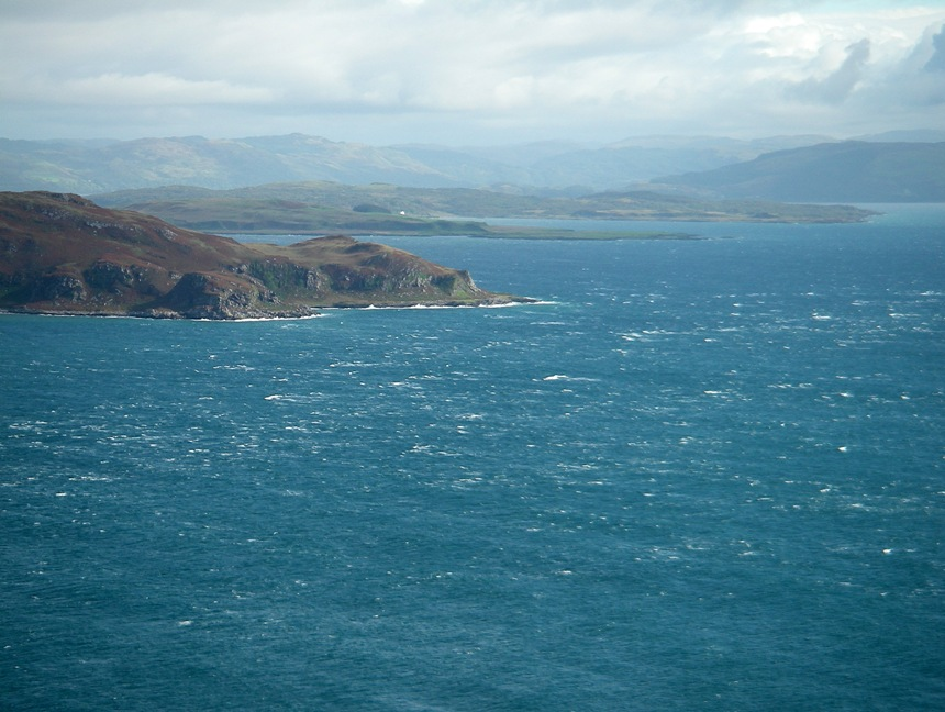 Estern end of Gulf of Corryvreckan